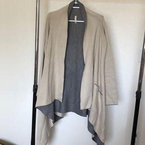 Long shawl sweater